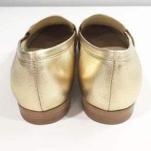 46d597bfe59 kate spade Shoes - Kate Spade Satchi gold metallic loafer flats Sz 8